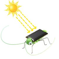 Wholesale New Educational Solar powered Grasshopper Toy Gadget Model Solar Toy Children Outside Toy Kids Educational Toy Gifts
