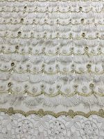 africa fabrics - DPN357 New add beads design france lace fabric mesh tulle lace three dimensional tassel africa net lace fabric for wedding dress