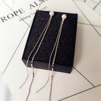 Wholesale Long tassels pearl earrings temperament pair of the earrings