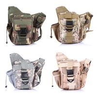 Wholesale 9 Colors Molle Tactical Pouches Backpack Messenger Bag Trekking Rucksack Hiking Backpack Saddle Bag Sports Shoulders Bag