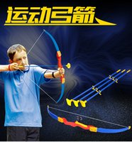 arrow plastic cups - Newest Design Safest Plastic Suction Cup Bow Arrow Kid Child Hunting Bow and Arrow Toys Quiver Shafts Toy Sport children