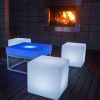 Wholesale 2016 best selling cm PE material and bar specific use led cube chair for night club party event use