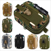Wholesale Army Tactical Molle Military Waist Fanny Pack Outdoor Sports Purse Pocket Camouflage Smartphone Mobile Phone Case Camping Hunting Bags B1786