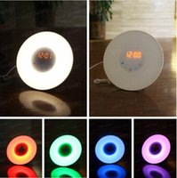 alarm clock nature sound - Sunrise LED Colorful Alarm Clock Wake Up Night Light with Nature FM Radio Sound b567