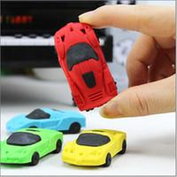 Wholesale Children School Supply Cute Car Dismountable Erasers Set Rubber Eraser Gift