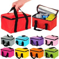 Wholesale Insulated Tote Lunch Bag Box Cool Canvas Thermal Handbag Portable Travel Camping Outdoor Picnic Kit Container Organizer Dinnerware Tool D511