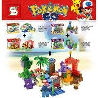 ball vehicle - SY723 Poke go minifigures DIY Building Blocks style children Pikachu Jeni turtle Charmander Poke Ball DIY Bricks Toys B