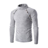 Men bevel design - Winter Warm Pullovers Long Sleeve Sweater Solid Turtleneck Man Knitted Standard Sweaters Male Bevel Design Sweaters