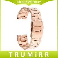 Motorola smartwatch Prix-Vente en gros-22mm Watch Band Fermoir Boucle Bracelet Strap Remplacement pour Motorola Moto 360 1 1ère génération 2014 Smartwatch Black Rose Or Argent