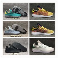 Unisex Mesh Rubber Hot Sale Originals Pharrell Williams Tennis Hu Sports Shoes Cheap Rainbow Stan Smith Running Shoes Man Sneakers With Box Size US7-10