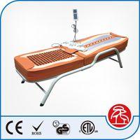 Wholesale 2016 Competitive Price Korea Economical Classic Reflexology Electric Heating Function Portable Tourmaline Jade Stone Massage Bed Table