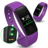 Wholesale Smart Wristband ID107 Smart Band Fitness Tracker Heart Rate Monitor For Android IOS Systerm With Silicone Watch Strap