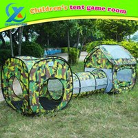 Wholesale in Camouflage Shuttle Toy Tent Tunnel Waterproof Baby Playhouse Kids Tent Tunnel Toys for Children cm Fast Shipping