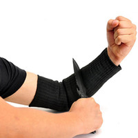 Wholesale Steel Wire Anti cutting Arm Sleeves Black Kevlar Sleeve Arm Protection Sleeve Arm Guard Bracer Cut Proof Anti Abrasion Stab Resistant Armban
