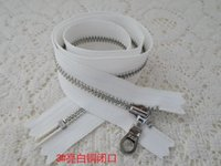 Wholesale 3 zinc alloy sleeve silent ykk zipper bright copper plating zipper cm skirt waist bright silver held white zippers