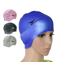 Wholesale Waterproof Silicone swimming cap Adult swim Unisex Silica Gel Ear Protection Swimming Cap Men Women Silicone Cap Swimming hat