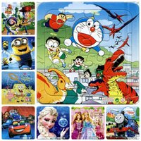 animated cartoons images - The animated cartoon puzzle paper children baby toys gifts Princess animals cartoon images cars robots S28