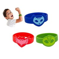 Wholesale PJ Masks Slicone Wrist Band Bracelet Luminous Catboy Owlette Gekko Connor Wristband Cartoon Themed Party For Adult Children PX B28