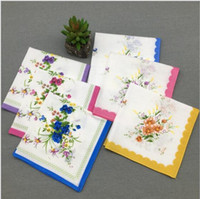 adult christmas craft - Christmas gifts Cotton Handkerchief Cutter Ladies Girls Handkerchief Craft Vintage Hanky Floral Wedding Party Handkerchief