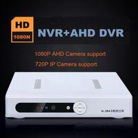 Wholesale 4CH N P AHD DVR NVR channel for P Analog HD AHD CCTV Camera Network digital video audio recorder IP Camara