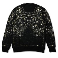 Wholesale 2017 mens sweater T shirt printing star loose plus long sleeved cashmere