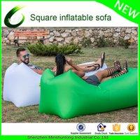Wholesale Fast Inflatable Camping Lazy Bag Laybag Air Sleeping Bag Sofa Banana beach Bed Air Bed lazy Lounger sac de couchage