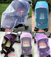 baby carriage net - summer children baby stroller pushchair coloful mosquito net netting accessories curtain carriage cart cover insect care DIM cm colors