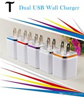 Wholesale Wall Charger V A EU US Plug usb home charger adapter Universal IC Power u Adapter For Iphone plus samsung s7