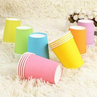 Wholesale Fashion classic multicolor one time wedding birthday party paper cups