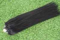 Wholesale 100 Human Remy Hair Silicone Micro Ring Loop Hair Extensions Virgin Brazilian Hair Straight quot A Pure Color