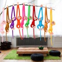 achat en gros de pendaison jouets de singe-Grossiste-2016 Nouveau Singe Stuffed Toy 60cm Suspendu Longue Arm Monkey du bras à la queue Plush Baby Toys coloré Doll Kids Gift FCI #