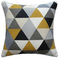 Cheap Brand new multi-color Fashional triangle Print Square Decorative Pillow cover for sofa & bedding 3 items choice 2 pcs lot worldwide shipping