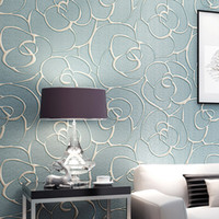 Wholesale Modern Wallpaper Patterns D stereoscopic Wallpapers Flower Mural Non Woven Floral Wall Paper for Bedroom Living Room Walls