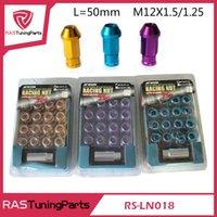 aluminium lugs - 20Pcs Work Emotion Aluminium Light Weight Racing Lug Nuts M12x1 or M12x1 Bule Red Black Golden Silver Purple Gray RS LN018