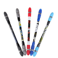 Wholesale Super Cool Spinning Pen Rotating Gaming Ballpoint Pen Non Slip Coated Spin Rolling Pen Blue Ink Refill Matting Finger Playing Pe