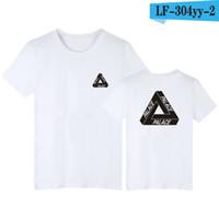 al por mayor hombres de la camiseta básicos-Palacio patineta triángulo clásico impresión camiseta para hombres verano básico noah ropa algodón manga corta camisetas tops