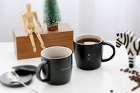 Lens anniversary coffee mugs - Classic Starbucks Reserve matte black Mug oz Simple style anniversary Memorial edition R letter ceramic coffee cup with lid spoon