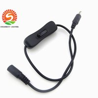 Wholesale Toggle On Off Switch Cable With x2 mm Male Female DC Connector For Led Strip Black DHL