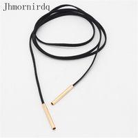 Wholesale Long chocker necklace black cheap jewlery women leather fashion choker womens chockers ladies jewelery accessories storage