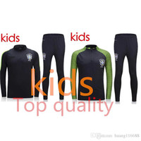 Wholesale Top quality Brazil kids soccer tracksuit chandal kids football Tracksuit training suit skinny pants