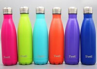 best metal water bottle - NEW Swell Men s Large Stainless Steel Bottle Vacuum Flask Cup S well Sports bicycle water Bottles ml Best quality colors