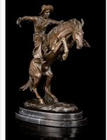 antique collectors - Brass Crafted Human Vintage Famous impressive Bronze Statues Sculpture quot The Broncho Buster quot by Frederic Remington Gifts collector Villa Deco