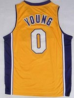 Wholesale Hot Sale Brandon Ingram Uniforms Nick Young D Angelo Russell Jerseys Sport Shirt Julius Randle Black Purple White Yellow