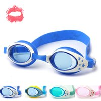 Wholesale Brand New Summer Colorful Silicone Waterproof Anti Fog UV Shield Children Kids Boys Girls Swimming Goggles Swim Eyewear Swim Glasses