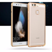 Cheap For Huawei Electroplating Case for Huawei p9 Best Clear Rose Gold TPU Case for Huawei p9