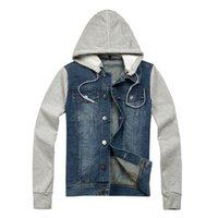 La nouvelle mode 2016 arrive la veste à capuchon de denim de douille de douille de douille de jean de veste de denim de veste des hommes d'automne Haute qualité!