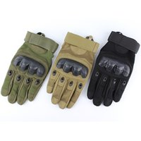 Wholesale New US Army Tactical Outdoor Sports Motocycle Gloves Full finger Combat Mens Glove Slip resistant Carbon Fiber Mittens Colors