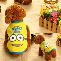 Wholesale Funny Colorful Warm Autumn Winter Pet Dog Clothes Minion Baymax Monster Mike Doraemon Thick waistcoat for puppy dog and middle dog