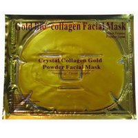 Wholesale Gold Bio Collagen Facial Mask Face Mask Crystal Gold Powder Collagen Facial Mask Moisturizing Anti aging Skin Care Makeup XL M173