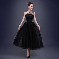 Wholesale black mesh fabric elegant soft the host of the party dress Fashion Studio Graduation evening dress